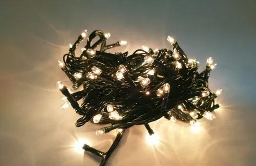 Luzes Pisca Pisca Decoração 100 Lamp. 8 Funções Luz Amarela 110V
