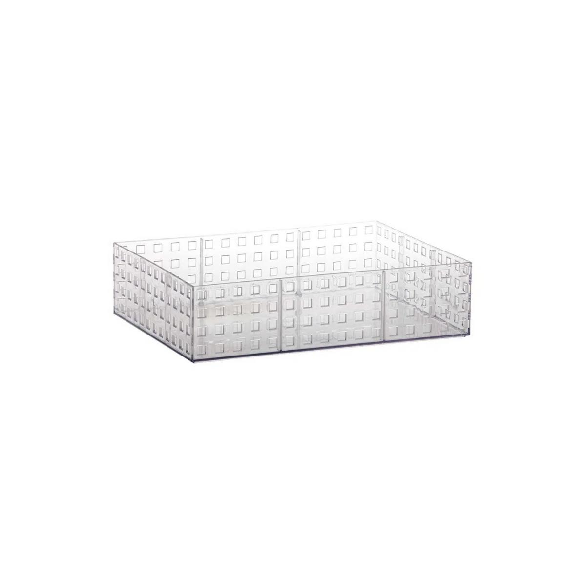 Organizador Acrílico Empilhável Quadratta 32x23x8cm