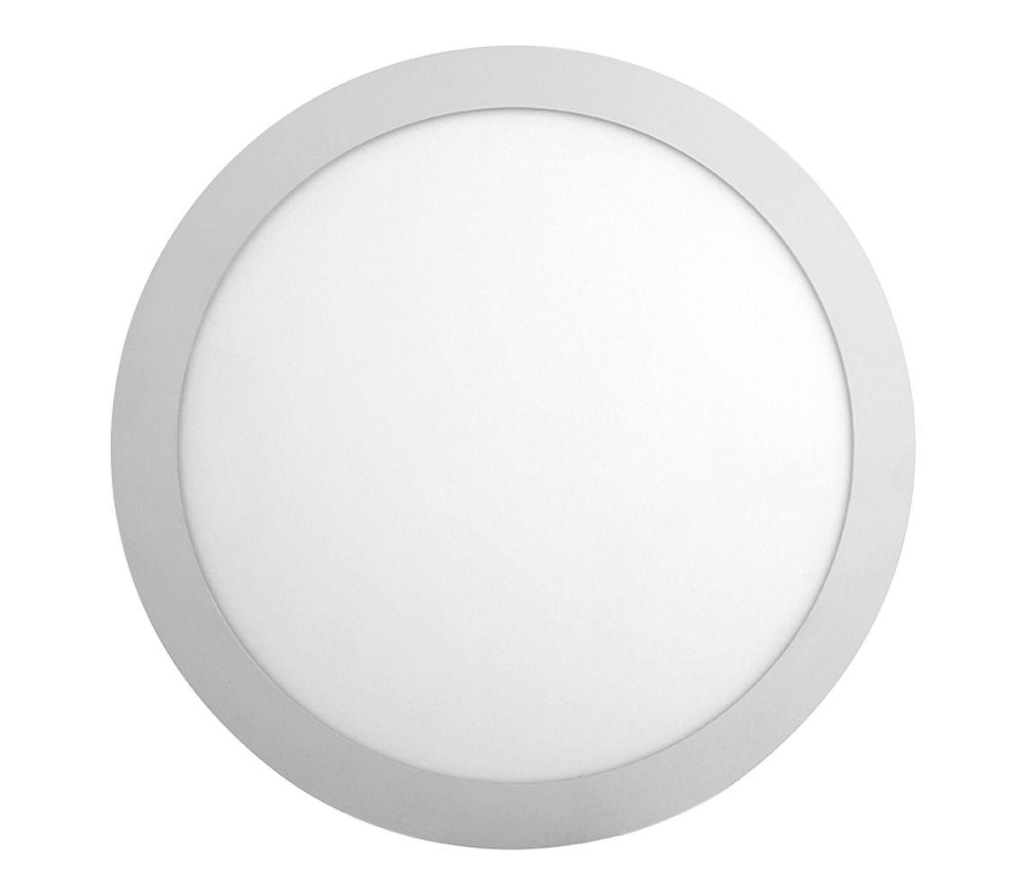 Paflon ECO 35628 21x21 redonda de sobrepor, luz branca fria, 18W, 850lm, 6.500K