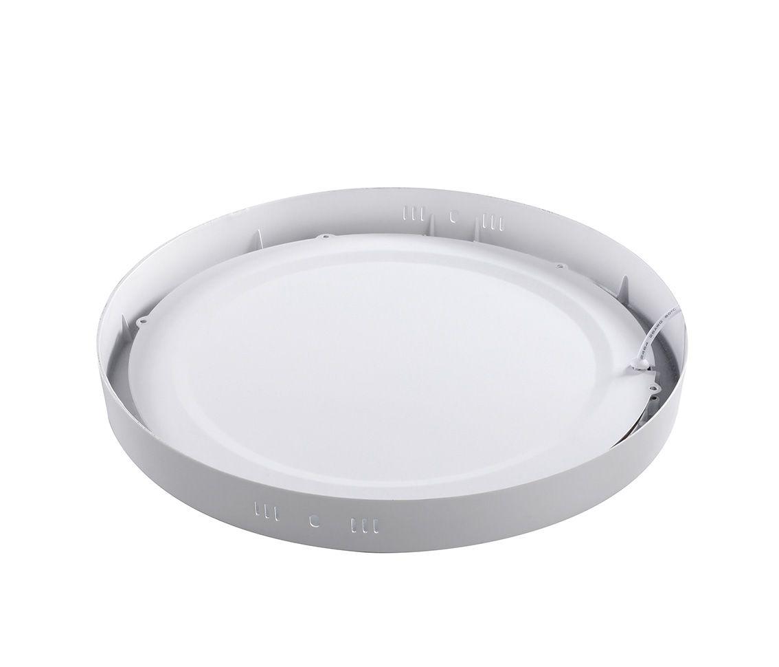 Paflon ECO 36083 21x21 redonda de sobrepor, luz branca neutra, 18W, 850lm, 4.000K