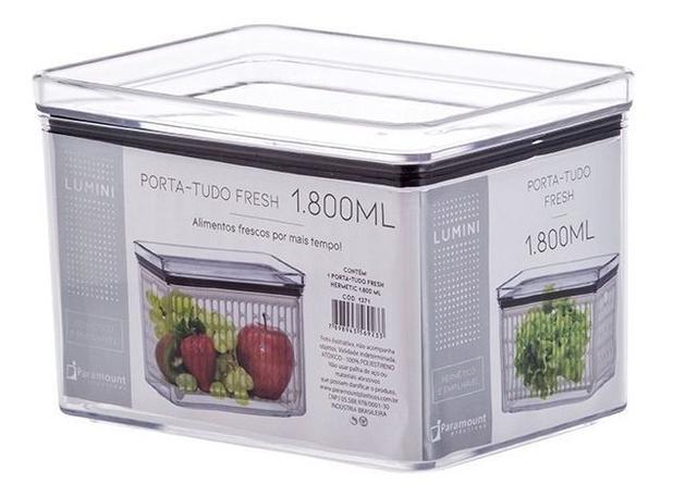 Pote Porta Tudo Fresh Hermético Lumini 1800ml Empilhável