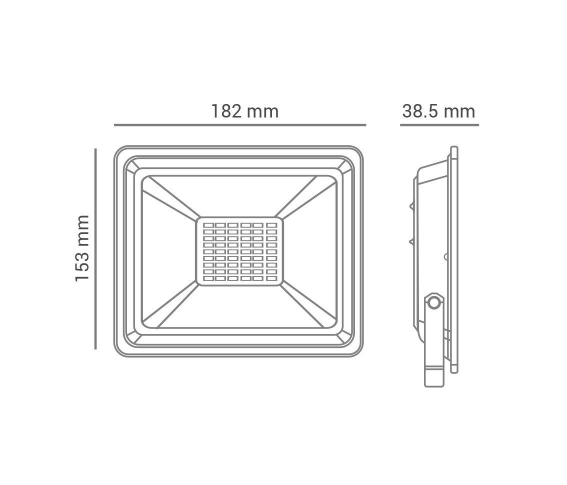 Refletor LED, branco frio, 30W, 2.200lm, 6.400K