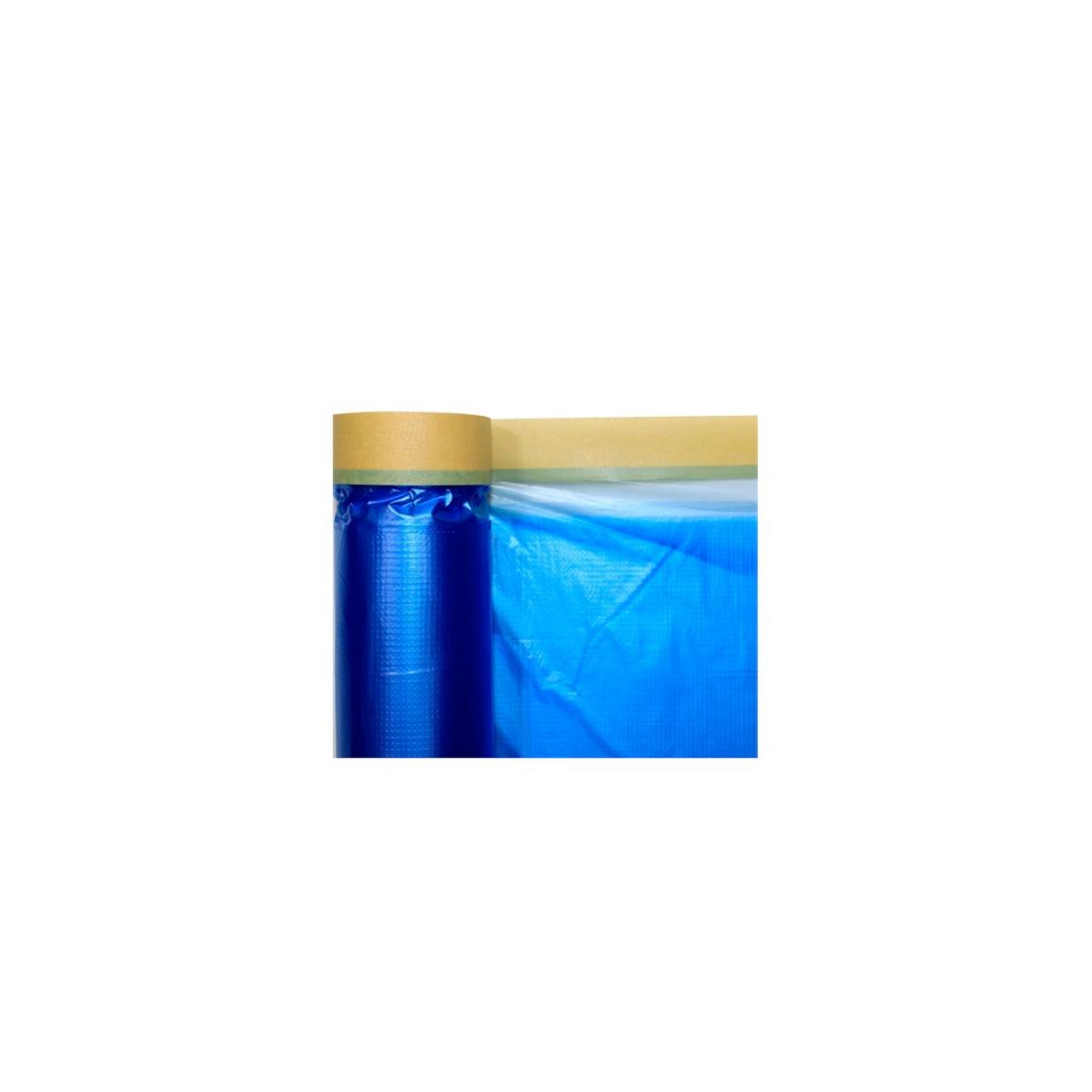 Salva Pintura 1,5x20 Metros Azul Proteção Tinta e Poeira