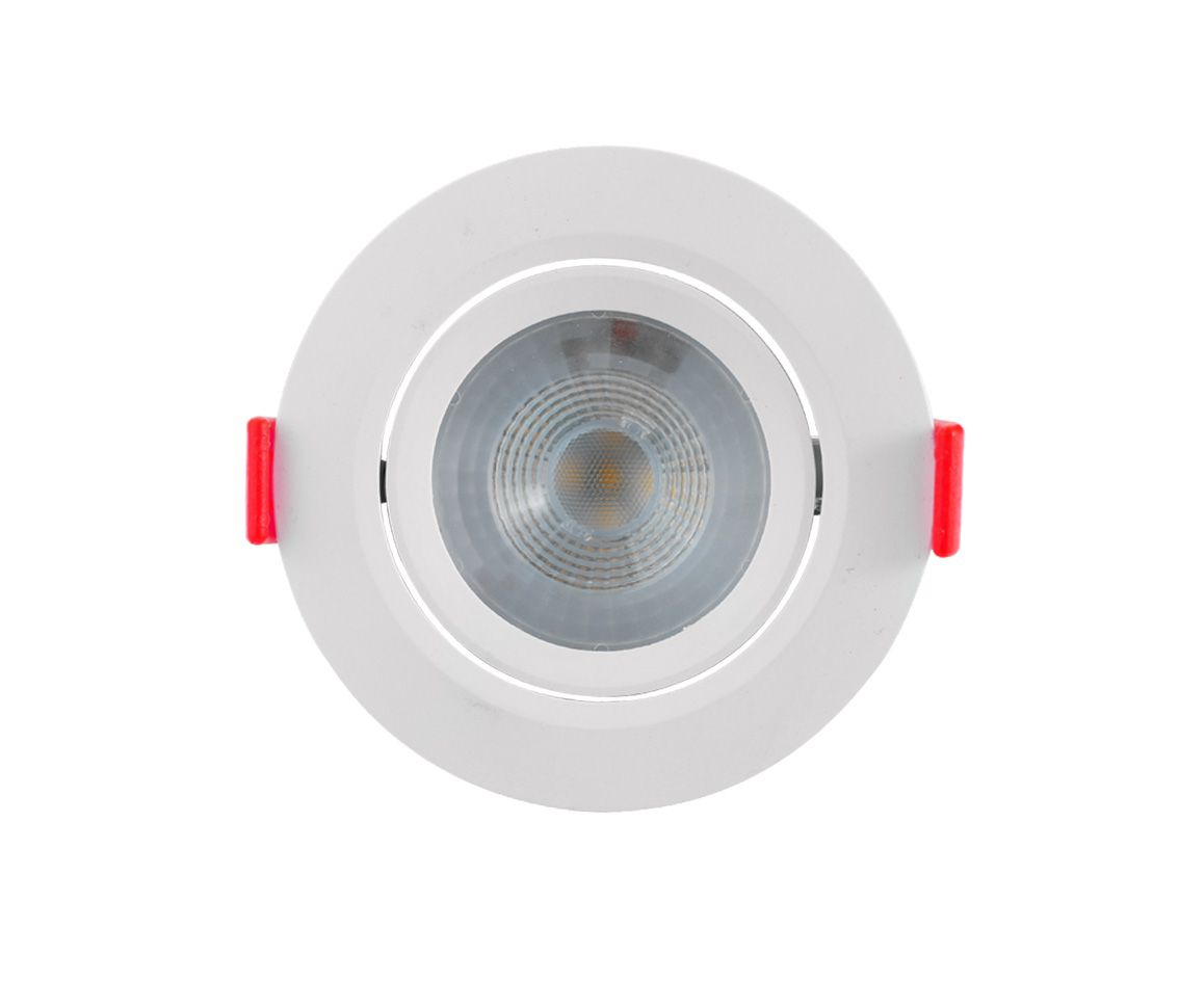SPOT LED ECO 32726 redondo luz quente de embutir, 5W, 390lm, 3.000K