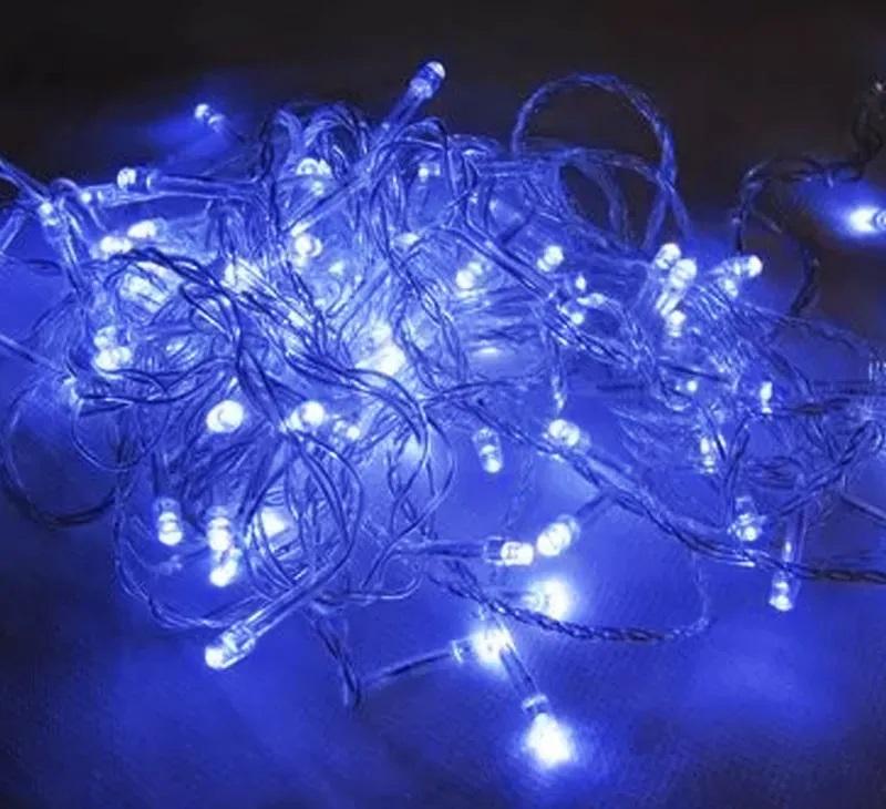Varal Decoração Luzes LED Fixo À Prova D'Água 100 Lâmpadas Festas