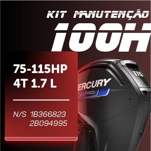 Manutenção 75-115 4T 1.7L (N/S: 1B366823-2B094995)