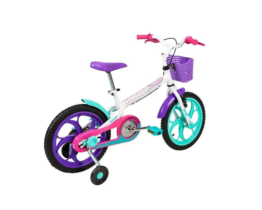 """Bicicleta Ceci Aro 16"""" - Branco - Caloi"""