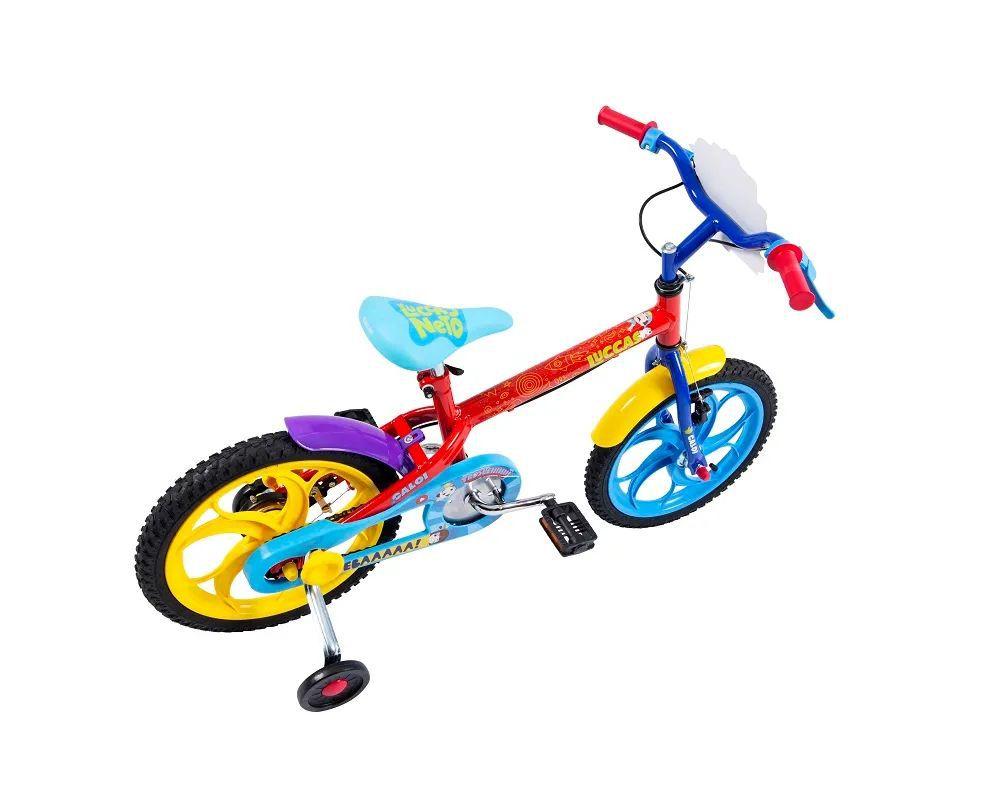 "Bicicleta Luccas Neto Aro 16"" - Vermelha - Caloi"