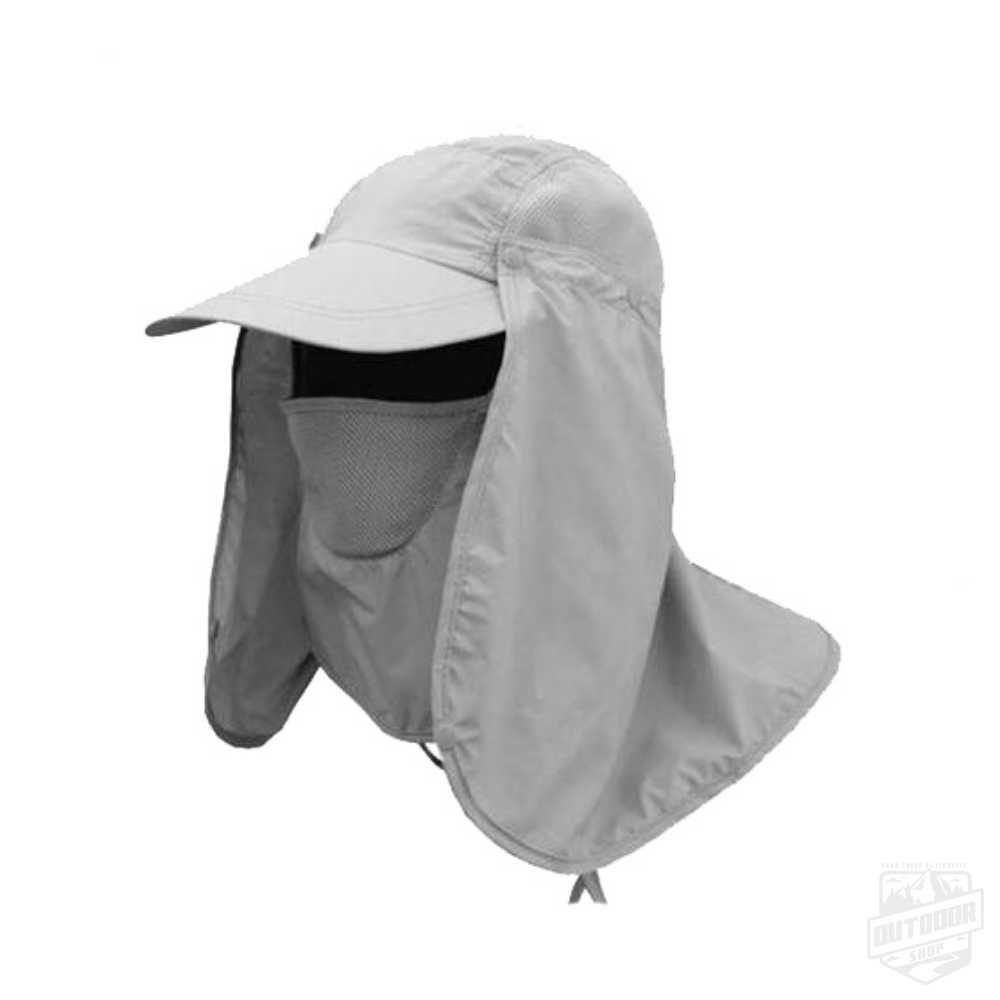 Boné Legionário com Máscaraca de Proteção UV40 Gelo - Echolife