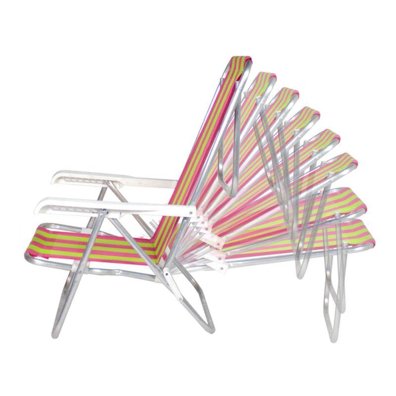 Cadeira Reclinável 8 posições alumÍnio - Belfix
