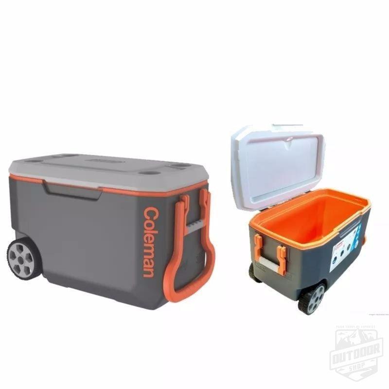 Caixa Térmica 58,7 litros com rodas Cinza - Coleman