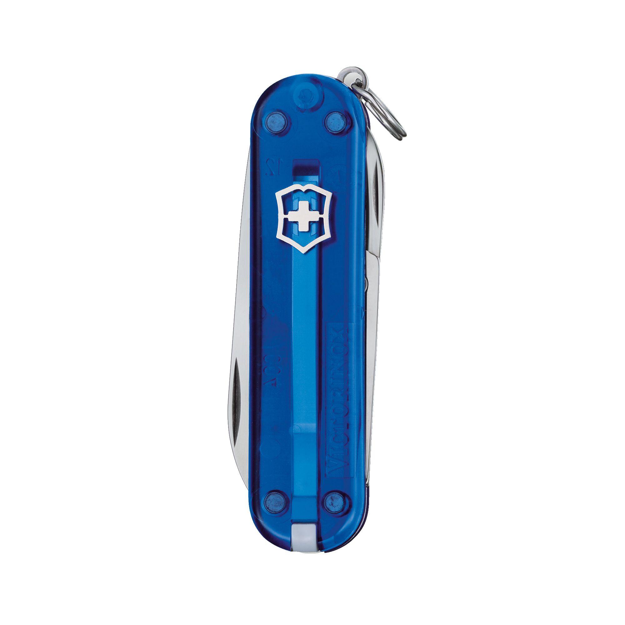Canivete Classic SD 7 Funções Azul Transparente - Victorinox