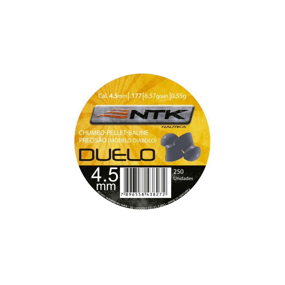 Chumbinho Duelo 4,5mm 250 peças - NTK