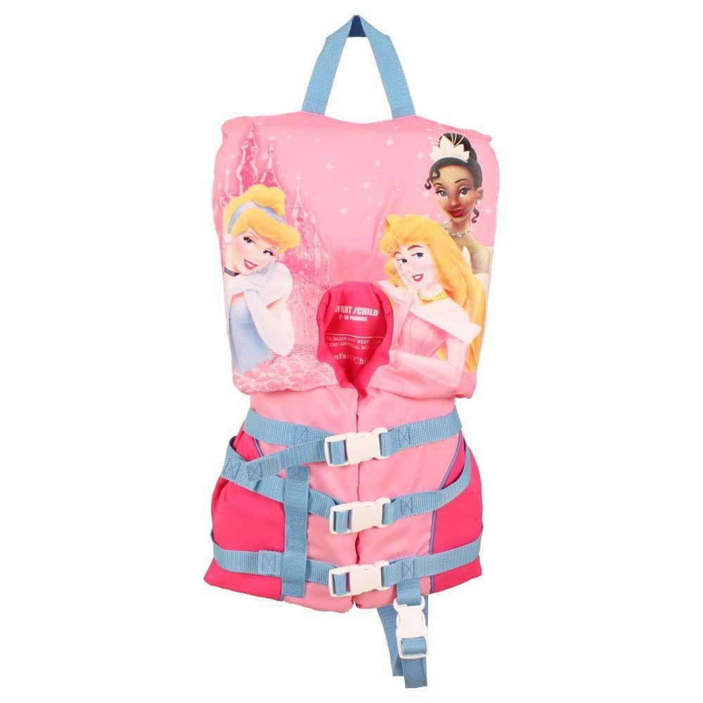 Colete Salva Vidas Infantil 4 Fivelas Princesas 0 a 13kg - Echolife