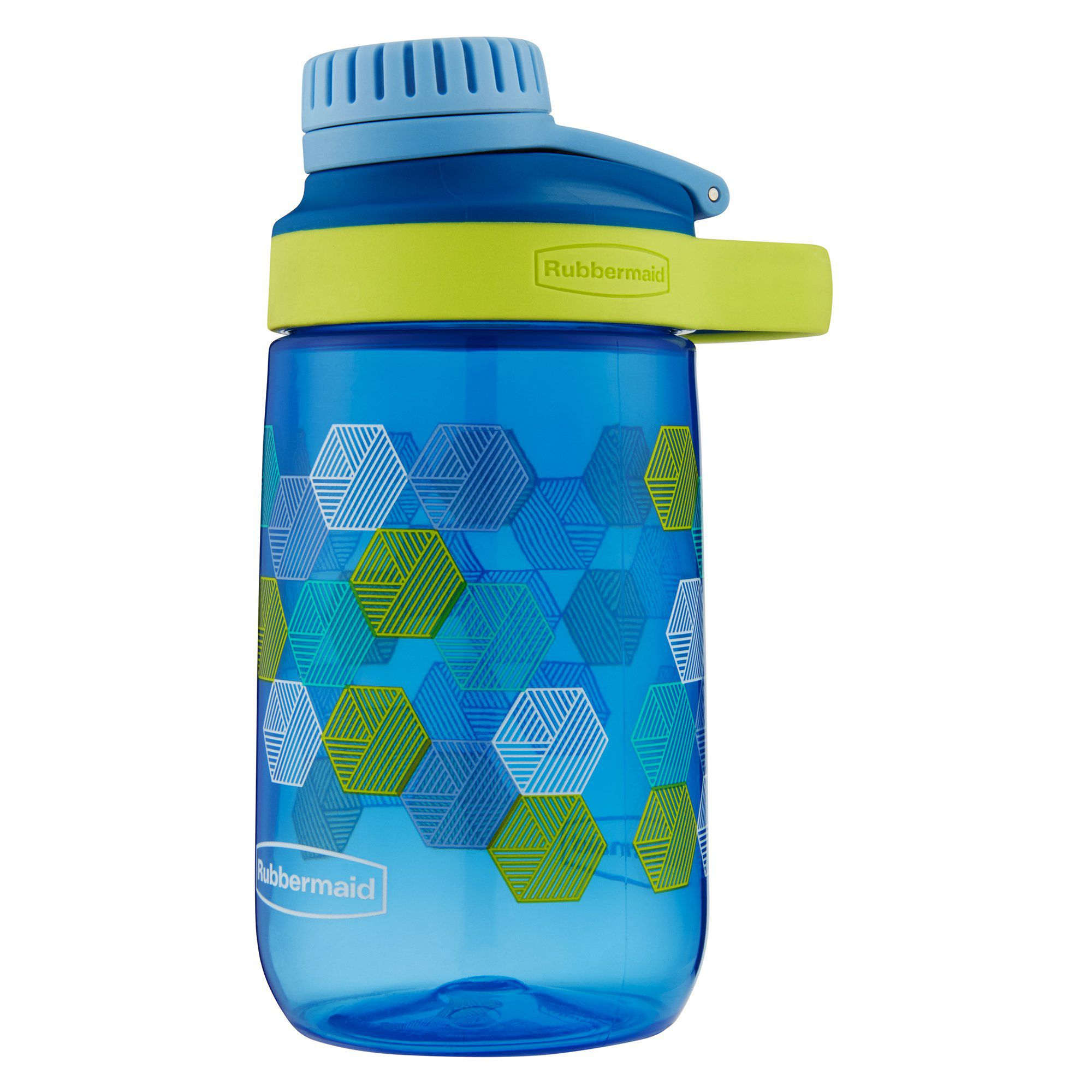 Garrafa de Água Infantil 414ml Azul - tampa com rosca - Rubbermaid