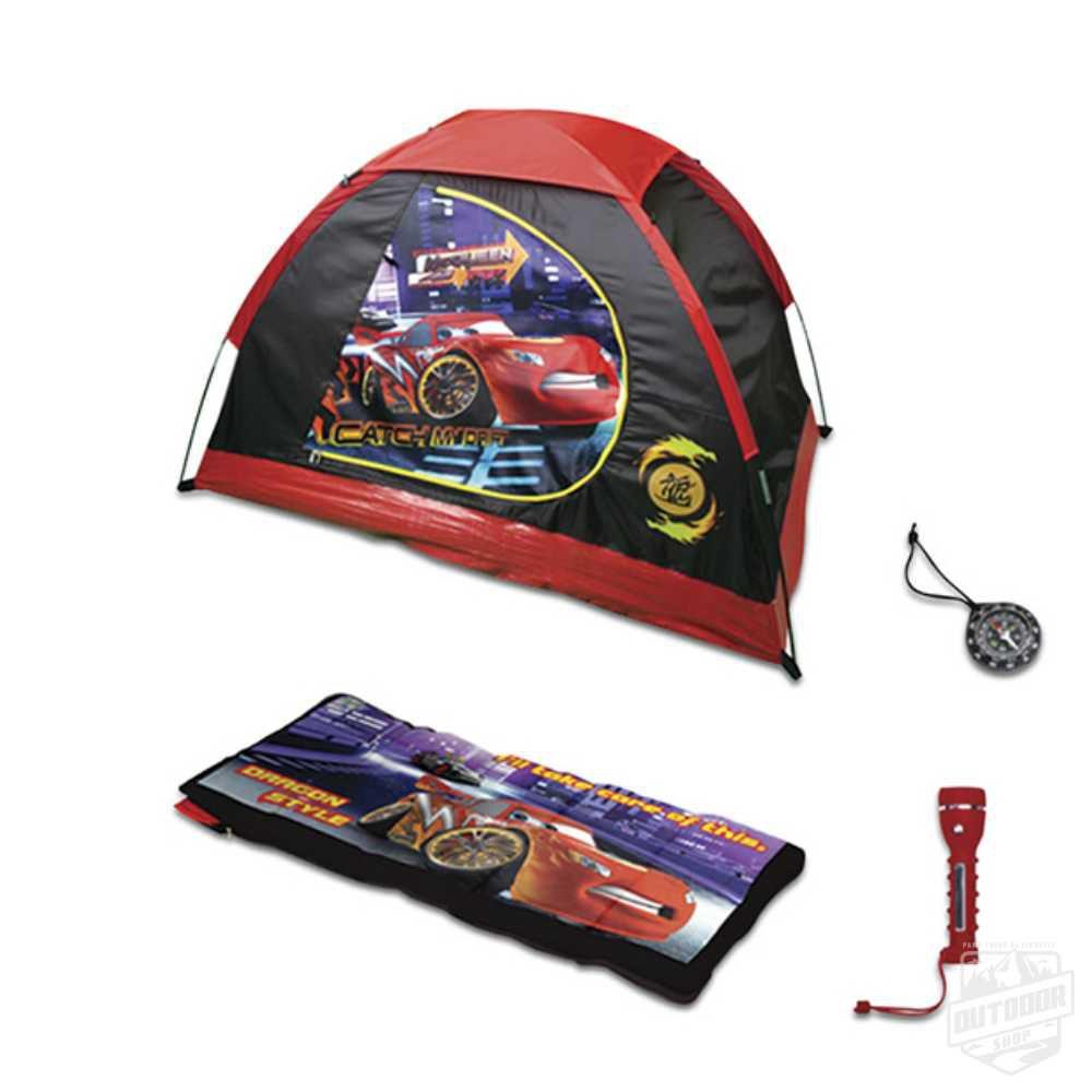 KIT Camping 4 peças - Barraca + Lanterna + Saco Dormir + Bússola Carros - Echolife