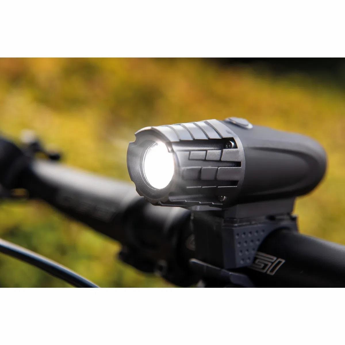 Lanterna de LED para Bicicleta Recarregável com Carregador USB - Tramontina
