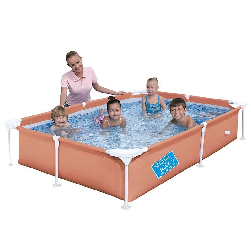 Piscina Estruturada Frame Pool 1200l Litros Laranja - Bestway
