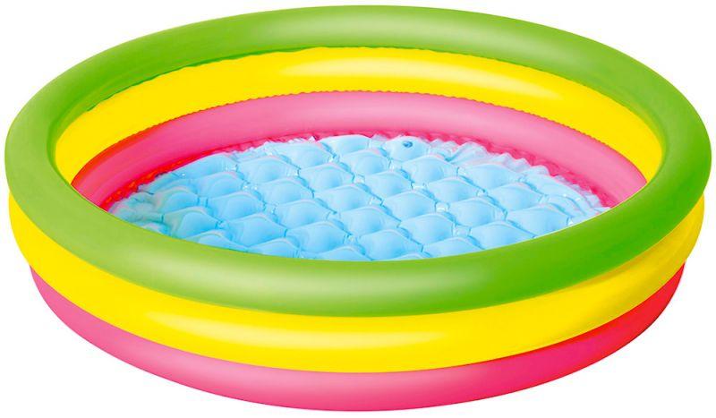 Piscina Inflável 3 anéis coloridos 62 Litros (1,02 x 25cm) - Belfix