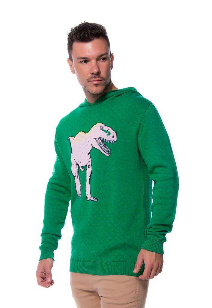 Blusa Zicão Dinossauro Capuz