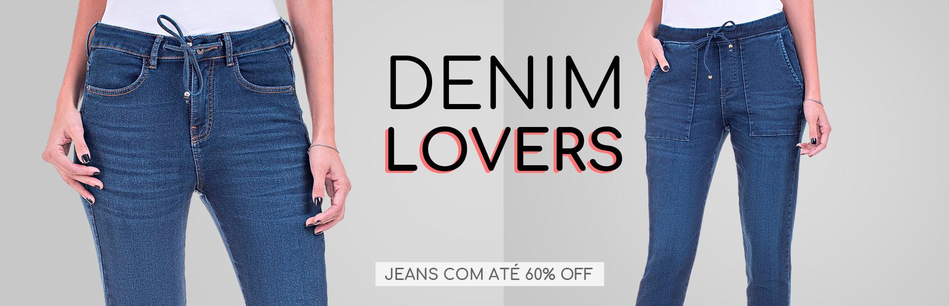 Calça Jeans com Descontos de Até 60%