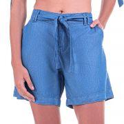 Bermuda Jeans Leve Média com Cinto