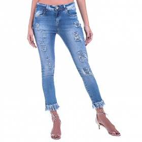 Calça Jeans Bloom Skinny Destroyed