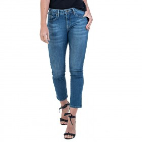 Calça Jeans Bloom Skinny Cropped Lady Azul
