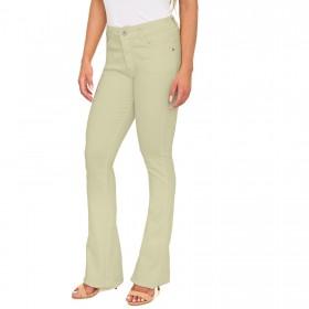 Calça Jeans Flare Color em Sarja de Moletom
