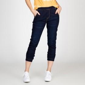Calça Jeans Jogger Slim Escura