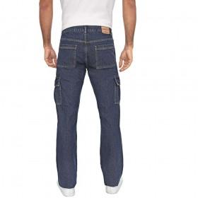 Calça Jeans Masculina Cargo Reta