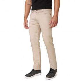 Calça Jeans Masculina Slim Caqui