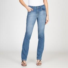 Calça Jeans Tipo Moletom Reta Judy Azul Médio