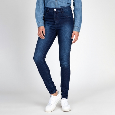 Calça Jeans Skinny Básica Destroyer Azul