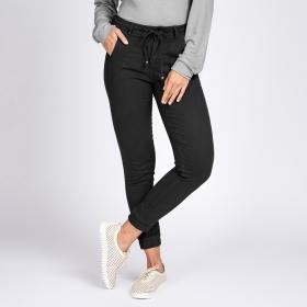 Calça Jogger Jeans Bloom tipo Moletom Preto