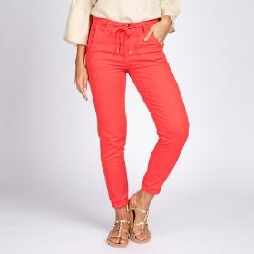 Calça Jogger Jeans Color Cor Mandarim