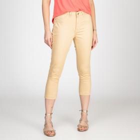 Calça Jeans Skinny Lady Cor Areia Quente