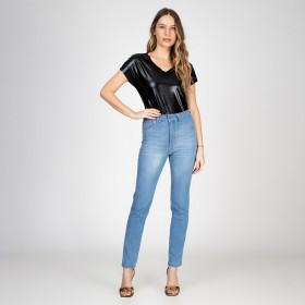Calça Skinny Thiffany Push Up Delavê