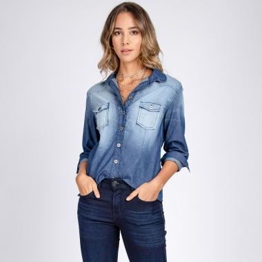 Camisa Jeans Ajustada