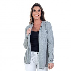 Cardigan Bloom Mescla Cinza