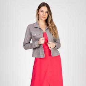 Jaqueta Color em Sarja com Elastano Cor Granito