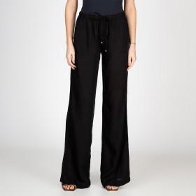 Pantalona Com Elástico e Cordão Cor Preta
