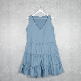 Vestido Regata 3 Marias Azul Hortência