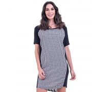 Vestido T-shirt Bloom Mix Xadrez