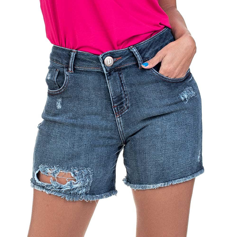 Bermuda Jeans Boyfriend Destroyed
