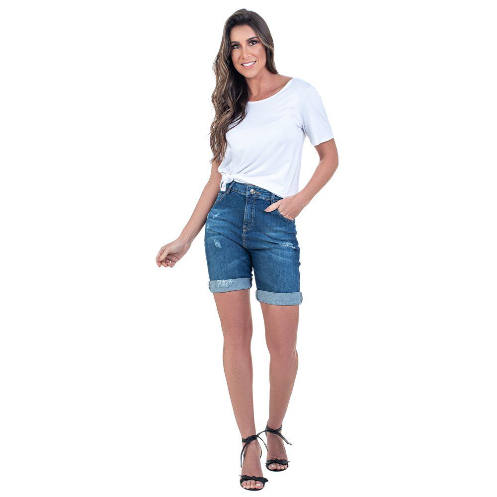 Bermuda Jeans Ciclista Camila Destroyed