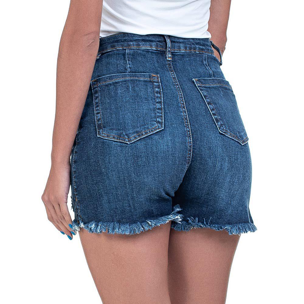 Bermuda Jeans Cris Curta Destroyed