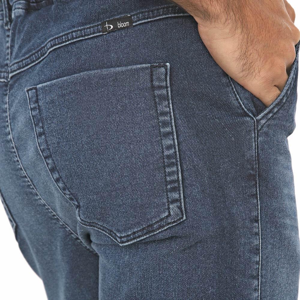 Bermuda Jogger Jeans Masculina Azul Médio