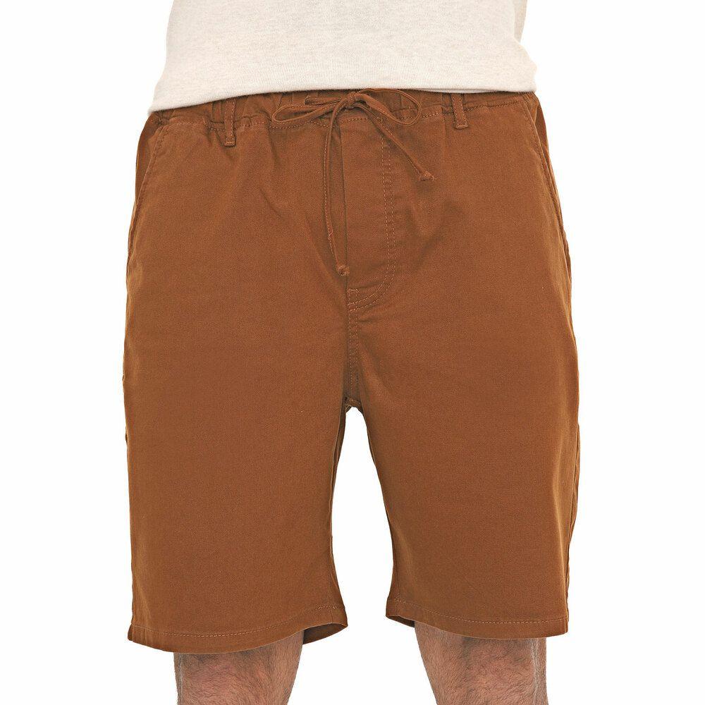 Bermuda Jogger Jeans Masculina Marrom