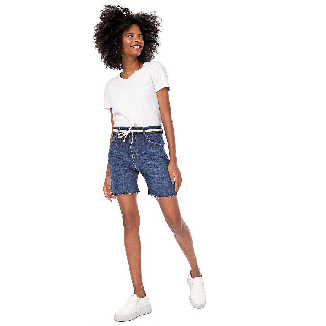 Bermuda Jogger Média Malha Jeans